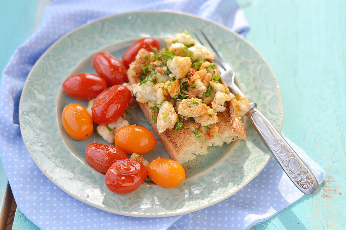 bruschetta with herby tofu scramble and grilled cherry tomatoes, roasted spicy chickpeas, vegan recipes, best vegan recipes, vegan snacks, vegan snacks recipes, go vegan, how to cook vegan, vegan ideas