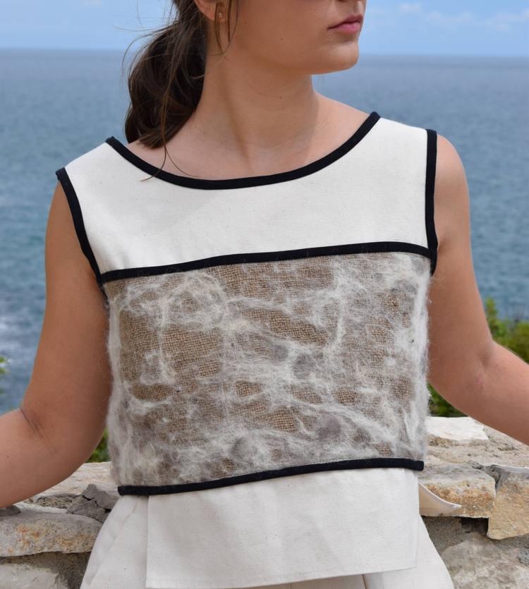 Sylvia Calvo, circular economy, upcycling coffee bags, upcycled, upcycled fashion, Upcycled Mode, asociación de moda sostenible de Barcelona, diseñadora de moda sostenible, convertir sacos de café en moda