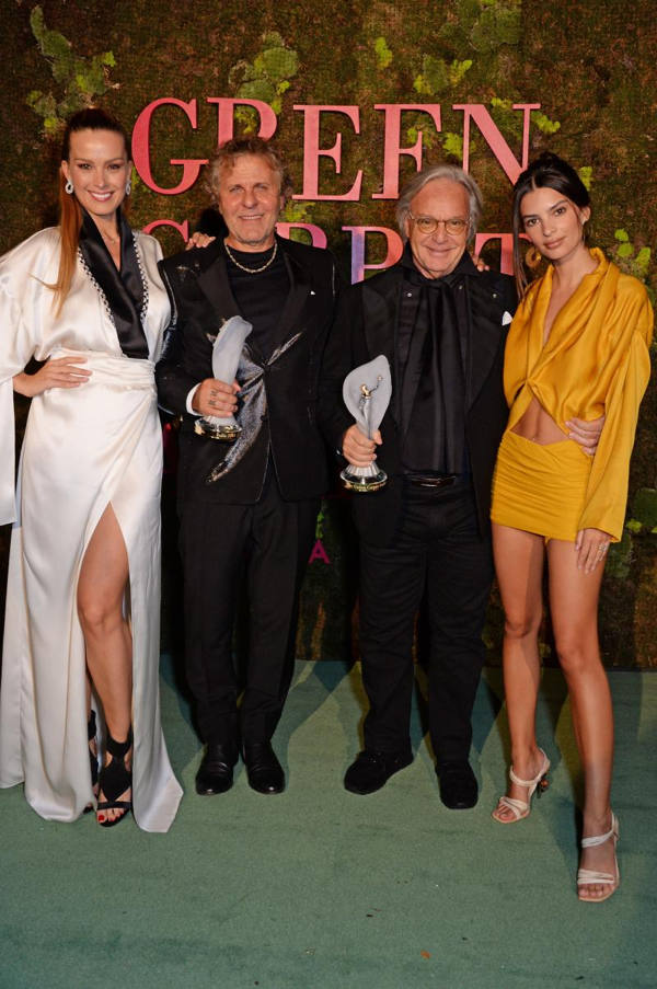 Art of Craftmanship, Best in Sustainable fashion, Changemaker Award, Diego Della Valle, Donatella Versace, eco fashion, Eco Stewardship Award, Elle Mcpherson, ethical fashion, Franca Sozzani GCC Award, GCFA Leaders Award, green carpet fashion awards, Green Carpet Fashion Awards 2018, Renzo Rosso, Sinéad Burke, slow fashion, sustainable fashion, Sustainable Producer Award, Suzy Menkes, the cobblers of Ferragamo