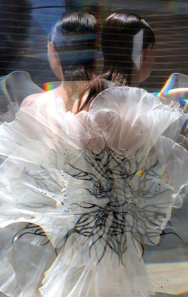 Iris van Herpen, fashion designer, dutch, dutch fashion designer, couture collection, couture, 3D printing, garment construction, transmotion, craftsmanship, technology, growth, regeneration, seed, Carice van Houten, silk, couture craftsmanship, transmotion film, news, fashion news, news on sustainability