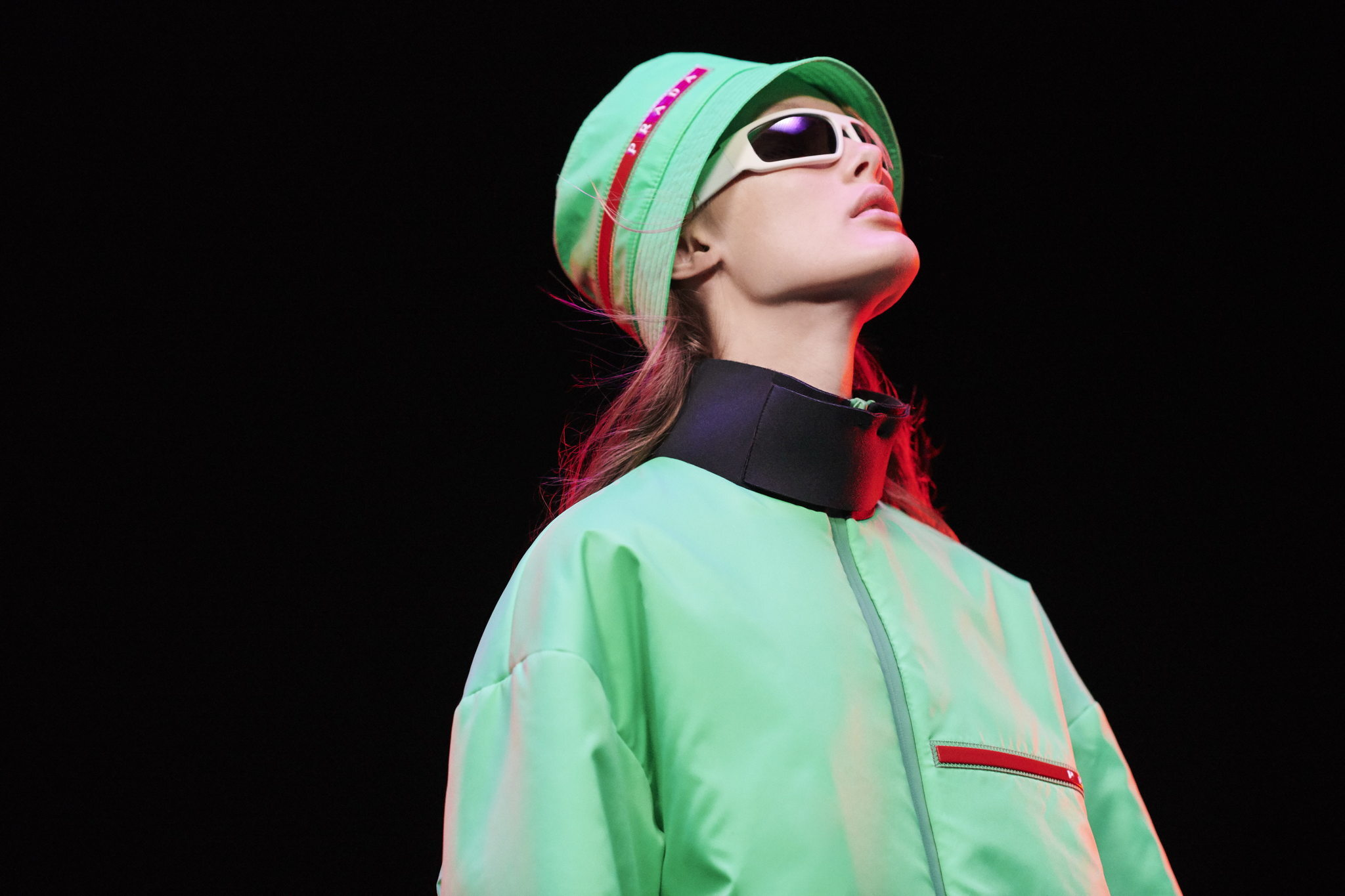 news, prada, fashion news, sustainable innovation, sustainable fabric, carbon and toxic free manufacturing, f w 2020, fall winter collection, linea Rossa, extreme tex, recycled polyester, thermoregulatory fabric, antibacterial textile, Chanyeol Park, fashion campaign, prada fw2020, Yara Shahidi, Jin Chen, waterproof jacket, sustainable fashion, Tec Rec Eggshell, raincoat, sustainable luxury, fashion news, sustainable news, eco news, green news, sustainabile design