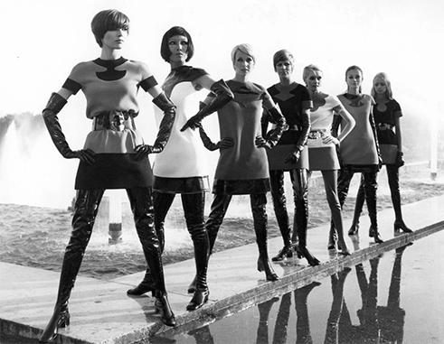 Pierre Cardin's dresses from